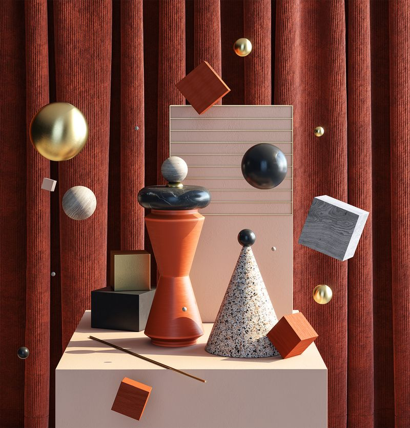 Idea concept design 3D Still Life